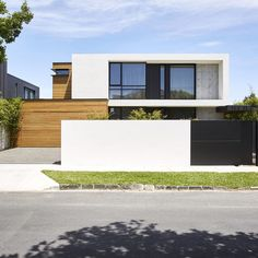 Australian Architecture - McKimm - The Local Project Howitt Feature Modern House Facades, Modern Architecture House, Residential Architecture, Modern House Design, Architecture Design, Contemporary Design, Deco Cool, Australian Architecture, Facade Design