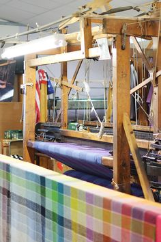 "A fifth-generation hand weaver, Denis Mulhern, had a strong desire to ensure that the tradition of handweaving was maintained and preserved. Ten years after the collapse of the local tweed industry, he started a small bespoke tweed company called ""Triona"" from the front room of the family home on hand looms just like this #donegaltweed #ardara #donegal #ireland #weaving #tweed #handloom #wool #donegalyarn #trionadesign #triona Wooden Hand, Donegal, Family Business, Bespoke, Tweed, Centre, Ireland, This Is Us, Home And Family"