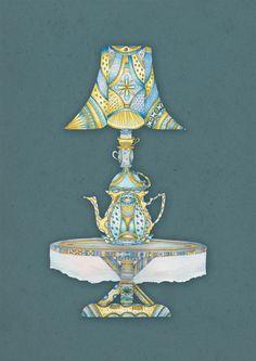 Cup lamp by Masha Bartanayev