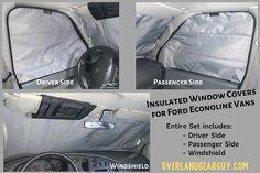 Ford Econoline van window covers
