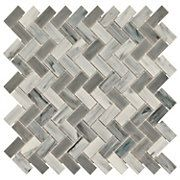 New Art Chevron Cloud Stick Glass Mosaic SKU: 913102736 Size: 12in. x 12in. at floor & Decor Houston $8.79ea