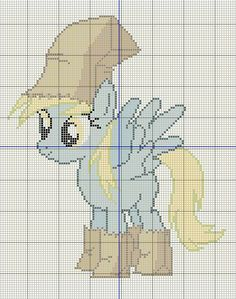 Buzy Bobbins: Derpy Hooves in her Nightmare Night costume cross stitch design Cross Stitch For Kids, Cute Cross Stitch, Cross Stitch Designs, Cross Stitch Patterns, My Little Pony Craft, My Lil Pony, Stitch Cartoon, Little Poney, Cross Stitch Pictures