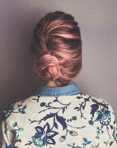 Creamsicle hair! Más