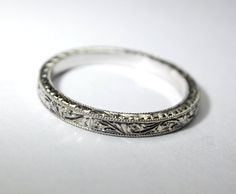 More of a wedding band than an engagement ring, but so pretty!