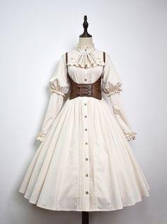 Pretty Outfits, Pretty Dresses, Beautiful Dresses, Cool Outfits, Kawaii Fashion, Lolita Fashion, Cute Fashion, Old Fashion Dresses, Fashion Outfits