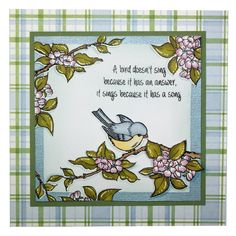 This Gorgeous card was made by Lisa Baker using Hobby Arts stamp set Bird Song