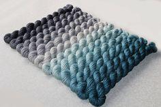 Gradient Yarn Set Hand dyed Superwash sock yarn by WoolSilkLace