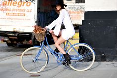 Hey, if you can ride a bike in heels and a mini dress, you've got balls