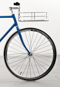 Bike handles with integrated basket.