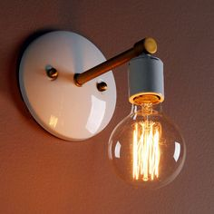 I've just found Minimalist Wall Light. Create ambiance in a space of your choice with this beautiful, minimalist style wall light. Kids Room Lighting, Room Lights, Ceiling Lights, Wall Lighting, Lighting Ideas, Vintage Wall Lights, Vintage Walls, House Lamp, Cage Light