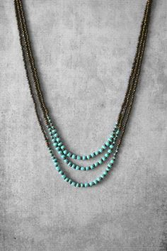ANANKE JEWELRY on Etsy Beaded necklace layered necklace turquoise necklace boho…