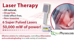 Laser-Therapy-Toronto    The ultimate in cold laser therapy technology  Our TerraQuant Super Pulsed Laser Therapy with:    50,000 mW of power  6 GaAs Super Pulsed Lasers,  4 Infrared emitting Diodes  4 Red light emitting Diodes    Our laser therapy unit has more power than most class IV lasers with the safety of class II.