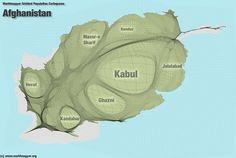 Afghanistan Population Cartogram