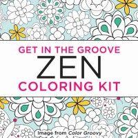 Get in the Groove Zen Coloring Kit