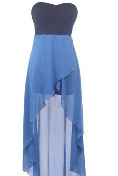 Blue High-low Dress