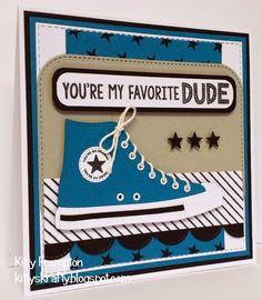 Made for Making Cards Magazine using All Star High Tops Die-namics & Be Original Stamps.