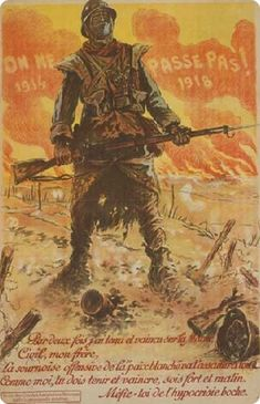 """georgy-konstantinovich-zhukov: """" """"They Shall Not Pass!"""" - French First World War Propaganda poster, evoking the Battle of Verdun. (Library of Congress) """" World War One, First World, Poster On, Poster Prints, Ww1 Propaganda Posters, Political Posters, Kaiser, Military Art, Vintage Posters"""