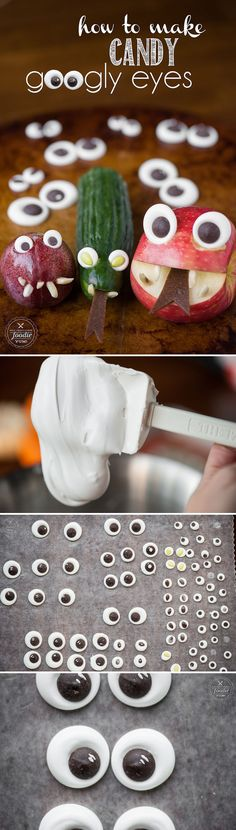 I'll show you How to Make Candy Googly Eyes so you can bring your Halloween treats to life with chocolate centered eyes that can be any size you want!