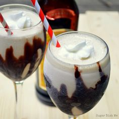 A classic summer cocktail made with Kahlúa, vodka, Irish cream liqueur, and ice cream. Kahlua Mudslides are a perfect treat for a hot day.