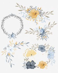 Hello, Hand made 7 floral compositions - png files is a good addition to many designers projects. In zip file: - 7 x png files I hope you enjoy it.