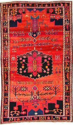 I want Persian magic carpet. – Persian perfection, Rug from Hamadan, Iran. Natural Carpet, Natural Rug, Persian Carpet, Persian Rug, Motifs Textiles, Red Rugs, Objet D'art, Carpet Colors, Tribal Rug