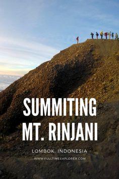 Mt Rinjani Summit Trek Indonesia Lombok