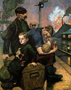 A la Pediatría desde el Arte. La emigración. Hans Baluscheck, hacia 1900