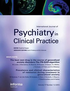 International journal of psychiatry in clinical practice [recurs electrònic]. London : Martin Dunitz, c1997-