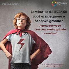 Postagem promovendo a homenagem do dia das crianças. Cliente: Framework - Gestão e Projetos.