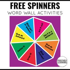 Make the MOST out of the word wall!I keep these two free word wall spinners close by at the Guided Reading small group table. It's the perfect activity to add to the beginning (warm-up) or end (cool-down) of the reading lesson.There are two spinners included:Spinner One - Dive deep into the word wal...