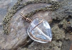 Peaceful Spirit Crystal Heart Necklace  Love by TheWhimsyEmporium, $25.00