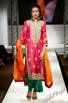 New Fashion Mehndi Dress 2014 For Bridal Pakistani Wedding Dresses, Wedding Party Dresses, Party Wedding, Bridal Dresses Online, Bridal Gowns, Dress Outfits, Dress Up, Fashion Show Party, Mehndi Dress