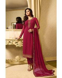 Buy designer Straight Cut Salwar Suits at Indiwear. Select the best Straight Cut Salwar Kameez designs at best suits price. Ethnic Suit, Ethnic Dress, Eid Outfits, Indian Outfits, Salwar Suits, Salwar Kameez, Drashti Dhami, Indian Clothes Online, Indian Fabric