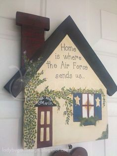 Home is where the Military sends us  Military by ladybugartdesign, $45.00