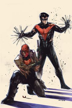 Blood Brothers: Red Hood and Nightwing — by Peter V. Nguyen