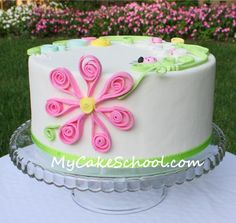 Cake Quilling with fondant-Learn how TUTORIAL