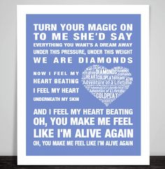 Coldplay Adventure of a Lifetime Music Love Song Lyrics Art Print Poster Heart