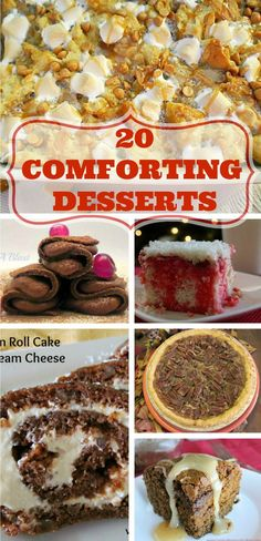 In this collectionof Comforting desserts: puddings, cakes, pies, rich chocolate pancakes, Monkey bread and so much more ~ all comfort food at it's best