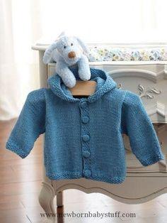 Baby Knitting Patterns Knit Hoodie ~ Free Pattern...