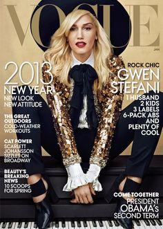 Gwen Stefani US Vogue January 2013 in Saint Laurent -