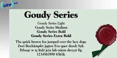 Goudy Series™ font download