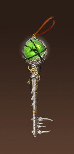 Coração dos Espinhos. Essa chave foi fabricada por Viktor, Morgana e Morgan, quando mataram e selaram Gnorr no Forte dos Espinhos. Foi feita com um olho e um osso de Gnorr e é ela que abre o local.