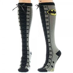 Batman-Superman-Wonder Woman Faux Lace Knee Socks