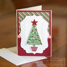 Festival of Trees note card, Stampin' Up! Holiday Mini 2014