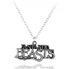 Hot Movie Jewelry Fantastic Beasts And Where To Find Them Letter Logo Pendant Necklace Free Shipping
