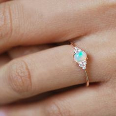 Moissanite engagement ring set Vintage Art deco engagement ring Women White gold Unique Alternative Diamond Wedding Bridal Anniversary gift All our diamonds are natural and not clarity enhanced or treated in anyway. We only use conflict-free diamond Gold Diamond Wedding Band, Rose Gold Engagement Ring, Engagement Ring Settings, Vintage Engagement Rings, Vintage Opal Rings, Halo Diamond, Black Opal Ring, Opal Ring Rose Gold, Moonstone Ring