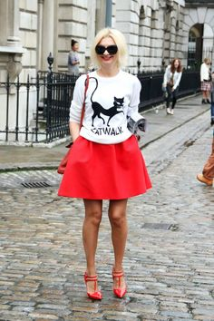 LFW SS14 #catlover