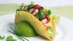 Foto: Tone Rieber-Mohn / NRK Cantaloupe, Tacos, Mexican, Homemade, Fruit, Ethnic Recipes, Food, Cilantro, Meal