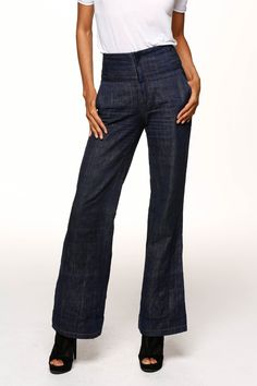 Naz&Court Sustainable. Ethical. Made in LA. www.nazandcourt.com High Waisted Organic Cotton Jeans
