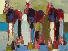 "Triple Cheval  30"" x 40"" by Sherri belassen"